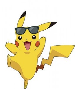 Pikachu wearing his Ray-Ban RB2140 Wayfarers