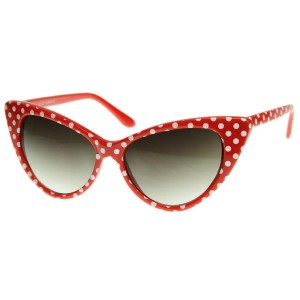 50's style cat eye glasses