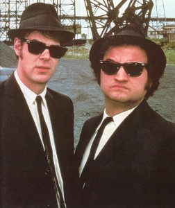"The ""Blues Brothers"" starring John Belushi and Dan Aykroyd"